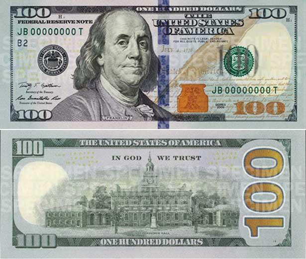 В октябре зелёные доллары станут по-осеннему  серо-оранжевыми, а украинские полтинники сделают из стали.